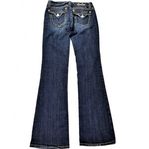 Miss Me Jeans Flap Pockets Thick Thread Detail